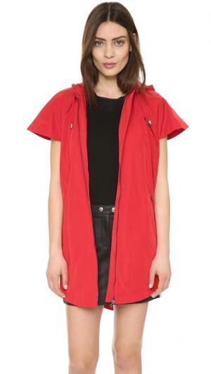 Пальто-тренч в стиле накидки Ohne Titel. Цвет: красный