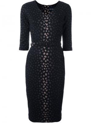 Жаккардовое платье Samantha Sung. Цвет: чёрный