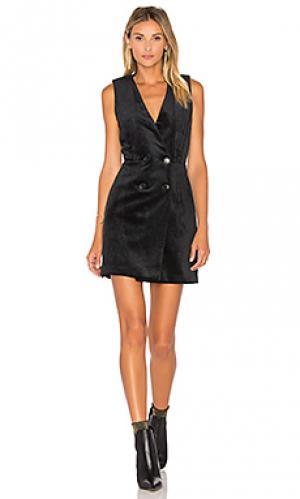 Вельветовое платье-смокинг thompson Greylin. Цвет: черный