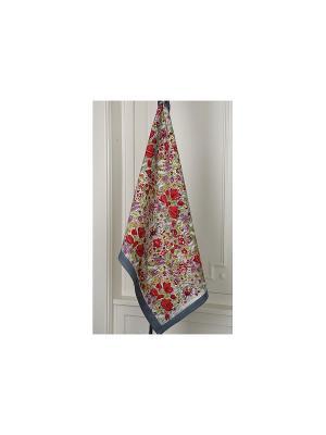 Полотенце Garden  grey-red /Сад серый-красный/ 50*80см, 100% хлопок Mas d'Ousvan. Цвет: красный, зеленый, серый