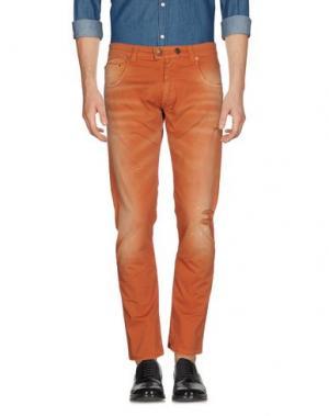 Повседневные брюки REIGN. Цвет: ржаво-коричневый