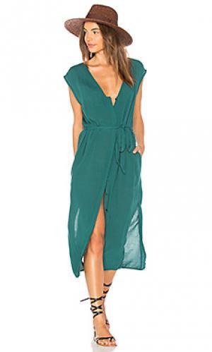 Платье-накидка leeman TAVIK Swimwear. Цвет: зеленый
