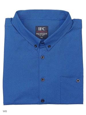 Рубашка IFC. Цвет: синий