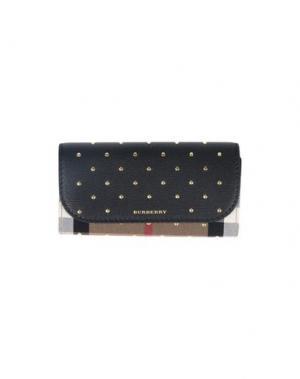 Бумажник BURBERRY. Цвет: черный