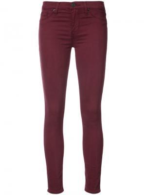 Mid-rise Nico Skinny jeans Hudson. Цвет: красный