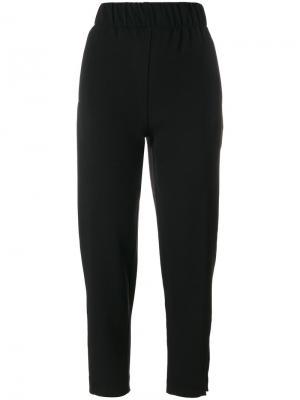 Зауженные брюки с завышенной талией Ganni. Цвет: чёрный