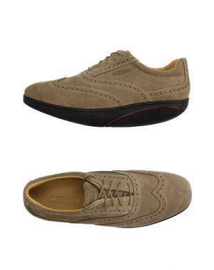 Обувь на шнурках MBT. Цвет: бежевый