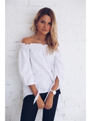 Блузка Wooly's. Цвет: белый