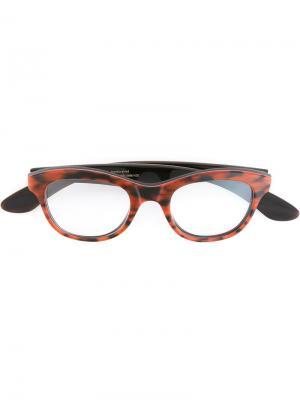Очки Bram Ralph Vaessen. Цвет: коричневый
