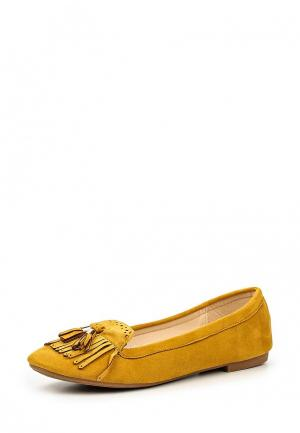 Балетки Max Shoes. Цвет: горчичный