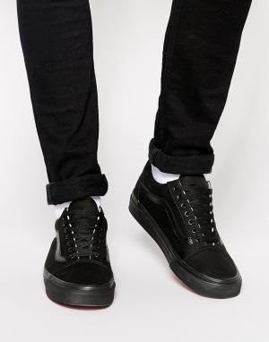 Vans Черные кроссовки Old Skool VD3HBKA. Цвет: черный