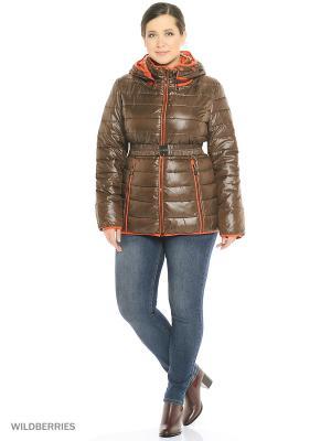 Куртка MOHNASS. Цвет: коричневый