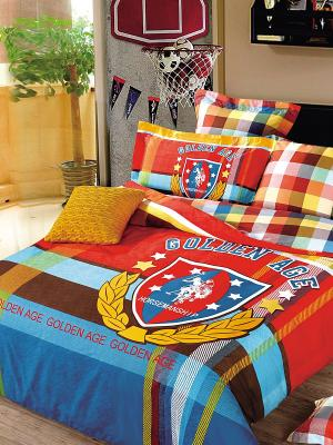 Комплект постельного белья Dream time. Цвет: синий, красный