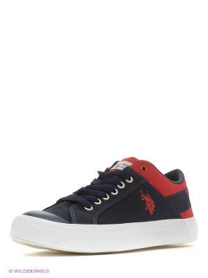 Кеды U.S. Polo Assn.. Цвет: темно-синий, красный