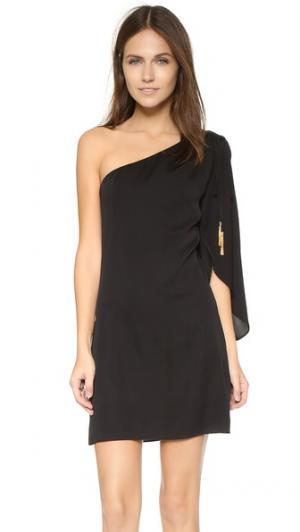 Платье Olivia с открытым плечом Milly. Цвет: голубой