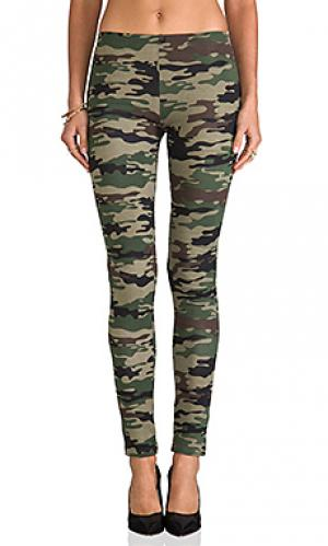 Camo print legging Plush. Цвет: green