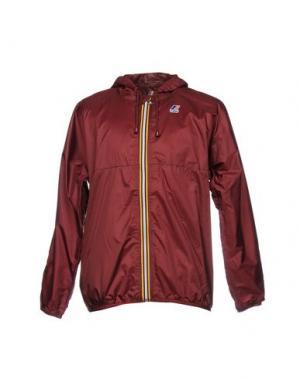 Куртка K-WAY. Цвет: красно-коричневый