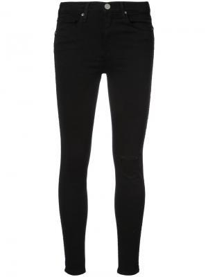 Облегающие джинсы с дыркой на колене Mcguire Denim. Цвет: чёрный
