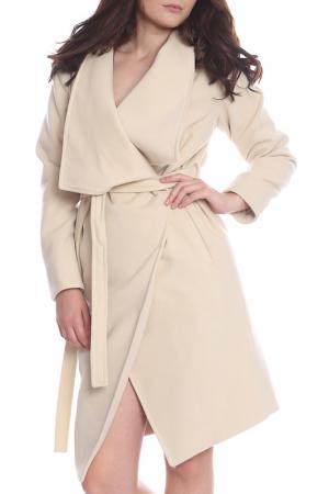 Пальто Moda di Chiara. Цвет: бежевый