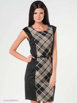 Платье Viaggio. Цвет: черный, бежевый