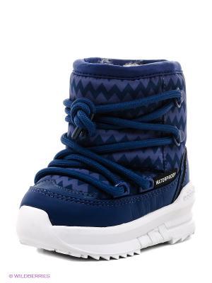 Дутики Adidas. Цвет: голубой, синий