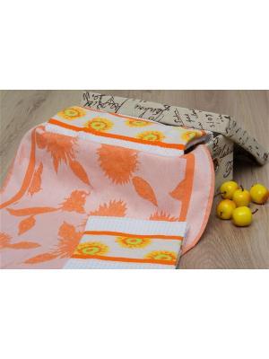 Набор кухонных полотенец ПОДСОЛНУХИ цв. оранжевый 40х60 (3шт.) TOALLA. Цвет: оранжевый