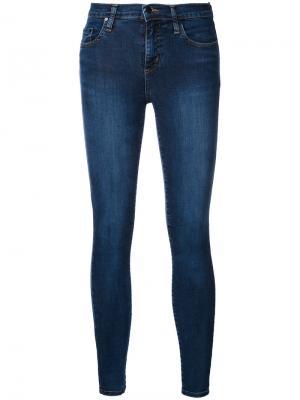 Укороченные джинсы Geo Super Skinny Nobody Denim. Цвет: синий