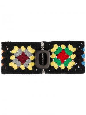 Трикотажная повязка на шею JW Anderson. Цвет: чёрный