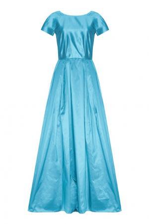 Шелковое платье Alexander Terekhov. Цвет: голубой