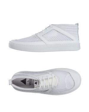 Высокие кеды и кроссовки VOLTA. Цвет: белый