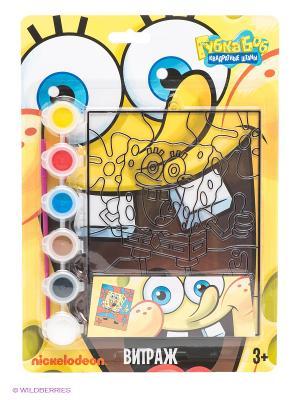 Витражная картинка Губка Боб Centrum. Цвет: желтый