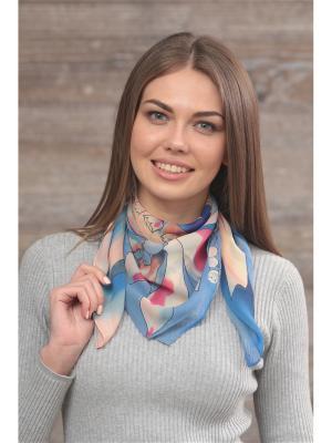 Платок FOMAS. Цвет: голубой, персиковый