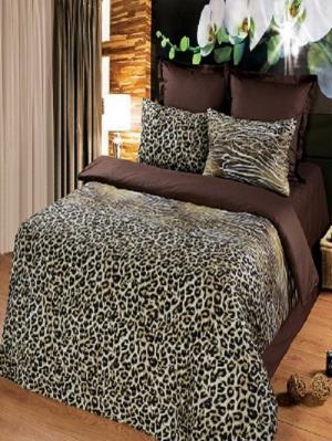 Комплект постельного белья из тк.Сатин в упаковке книжка Стиль Арт Постель. Цвет: коричневый