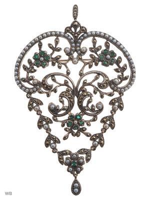 Ювелирные броши FRESH Jewelry. Цвет: серебристый