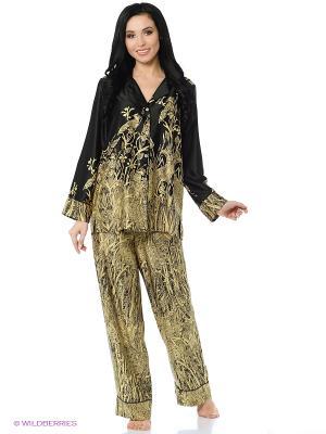Пижама Natori. Цвет: черный, золотистый