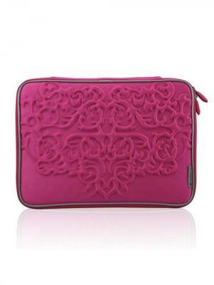 Чехол для MacBook 15.4 Геральдика (цвет - красно-розовый) Kawaii Factory. Цвет: малиновый