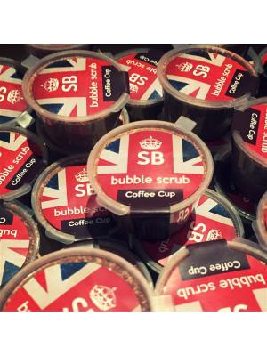 Скраб-пена bubble scrub coffee cup SHAMPOO BAR. Цвет: светло-коричневый