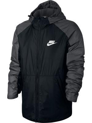 Куртка M NSW SYN FILL JKT HD FLC LN Nike. Цвет: черный