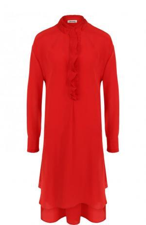 Однотонное шелковое платье свободного кроя Zadig&Voltaire. Цвет: красный