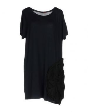 Короткое платье MACRÍ. Цвет: темно-синий