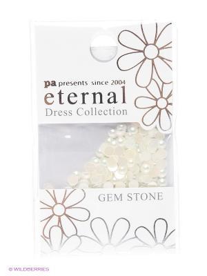 Стразы-камушки для ногтевого дизайна Натуральный жемчуг 3мм ETERNAL Dress Collection Gem Stone PA presents since 2004. Цвет: белый
