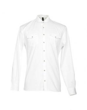 Джинсовая рубашка IMB I'M BRIAN. Цвет: белый