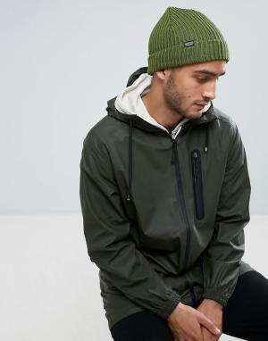 Patagonia Зеленая шапка-бини. Цвет: зеленый