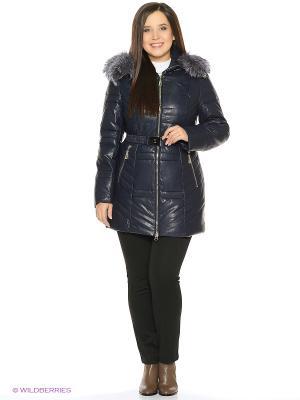 Кожаная куртка OSTRICH. Цвет: синий