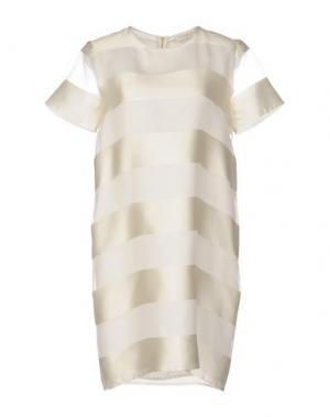 Короткое платье ANTONELLI. Цвет: абрикосовый