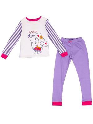 Пижама Yallo Kids. Цвет: фиолетовый, бежевый