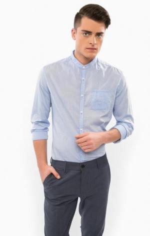 Хлопковая рубашка с длинными рукавами DRYKORN. Цвет: синий
