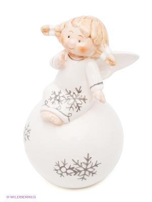 Фигурка декоративная Ангел Русские подарки. Цвет: черный, белый
