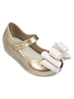 Туфли Melissa. Цвет: золотистый, белый