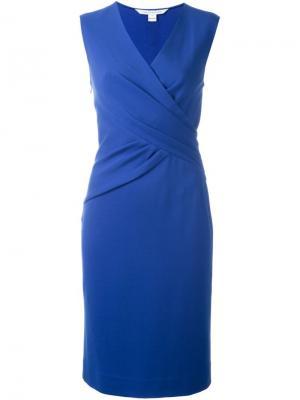 Облегающее платье Leora Diane Von Furstenberg. Цвет: синий